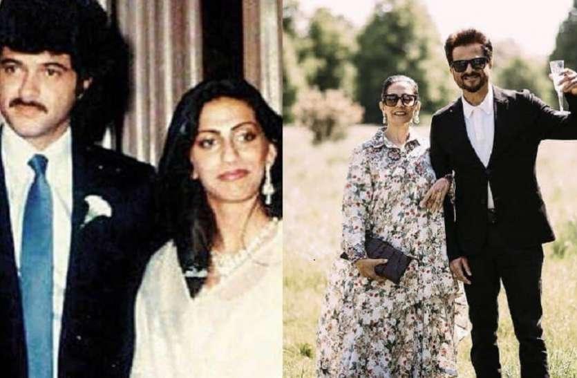 शादी की सालगिराह पर अनिल कपूर ने लुटाया पत्नी पर खूब प्यार