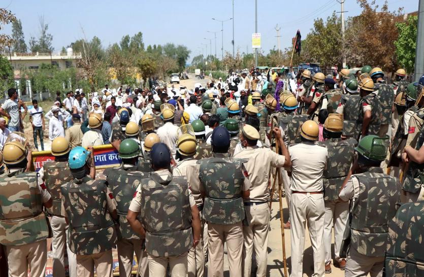 हरियाणा में प्रदर्शन के दौरान हिंसा करने पर 350 किसानों के खिलाफ मुकदमा दर्ज