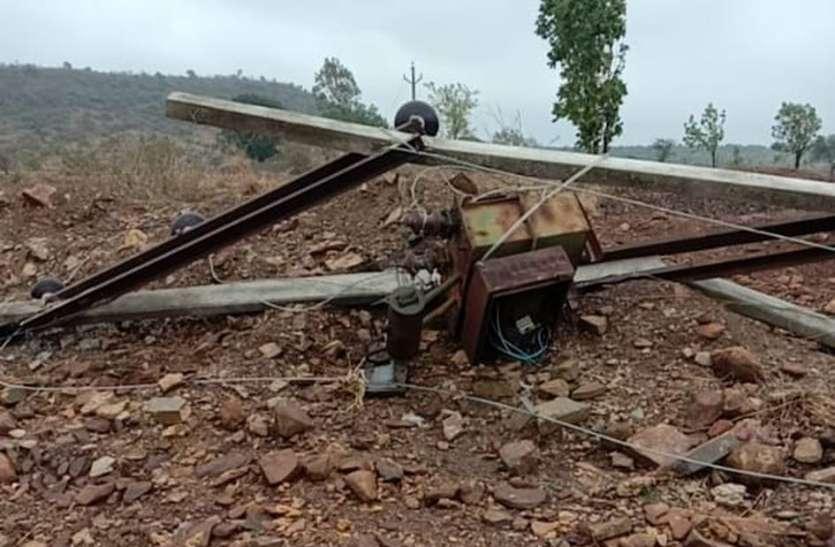 तौकते तूफान से 29 गांवों में क्षतिग्रस्त हुआ विद्युत तंत्र