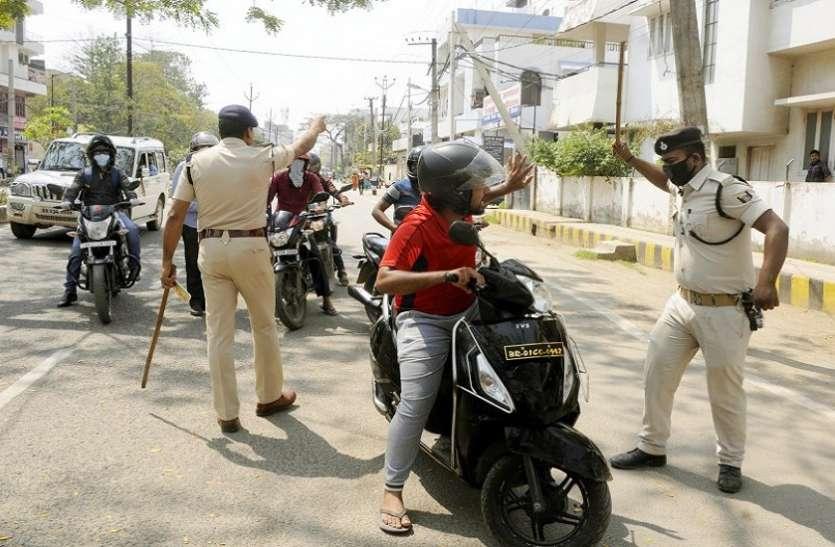 कोरोना कर्फ्यू के दौरान नागरिकों पर पुलिस ज्यादती का आरोप, सोशल मीडिया पर विरोध