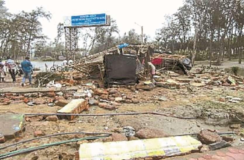 चक्रवाती तूफान ने टूरिस्ट प्लेस दीघा को किया तहस-नहस