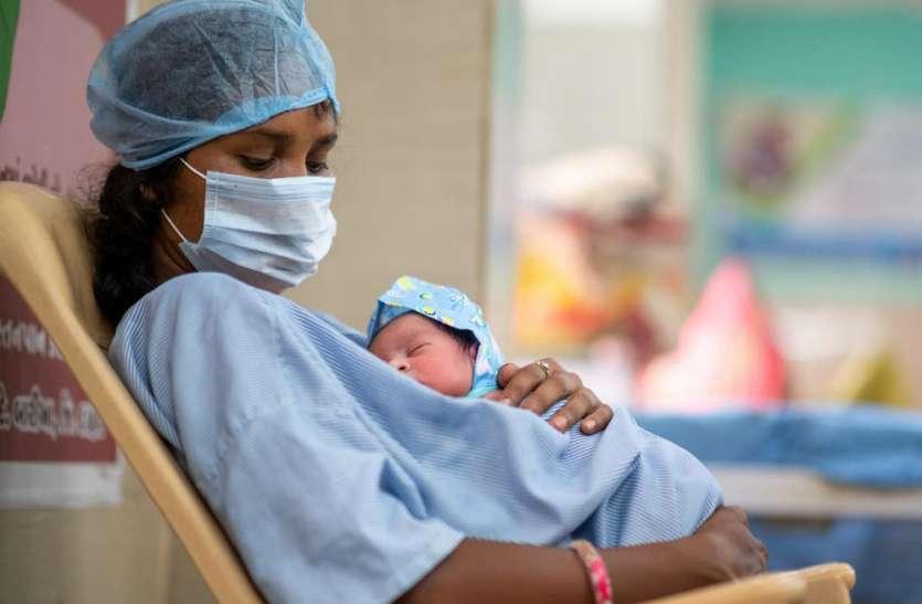 यूपी में अनोखा मामला, पूर्ण रूप से स्वस्थ महिला ने कोरोना संक्रमित बच्ची को दिया जन्म