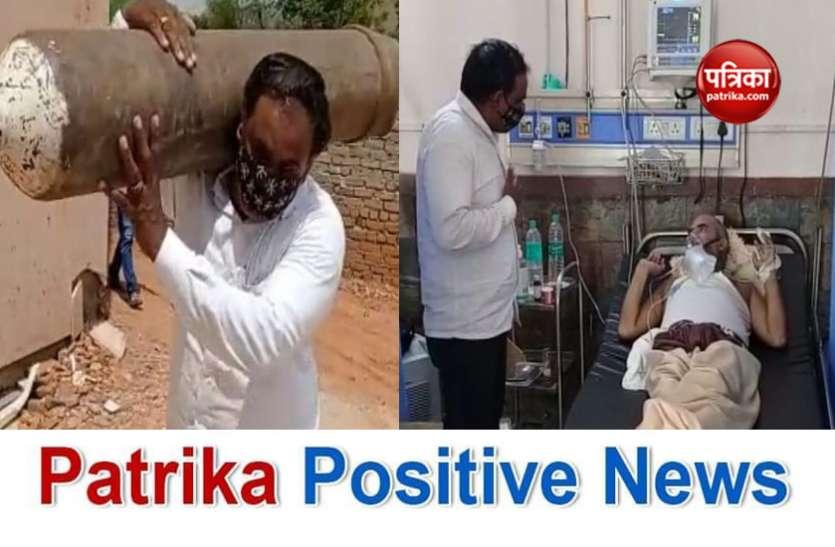 Patrika Positive News: मसीहा से कम नहीं जग्गा पहलवान, कंधों पर लेकर जाते सिलेंडर, हाथों से खिलाते है खाना