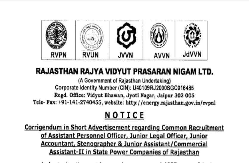 Rajasthan RVUNL Recruitment 2021:असिस्टेंट पर्सनल ऑफिसर सहित कई पदों पर निकली बंपर भर्ती, जल्द करें अप्लाई