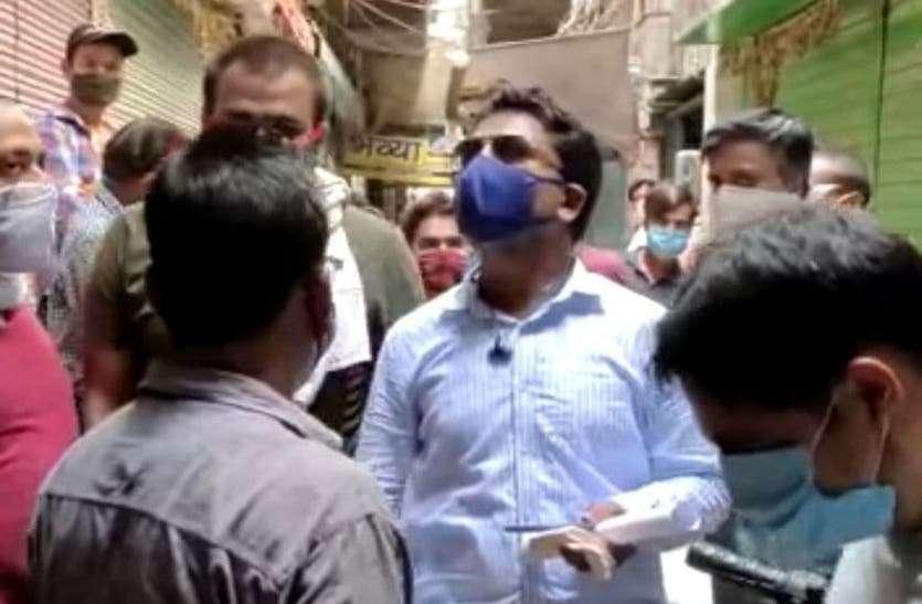 शालीमार मार्केट में दुकानदारों ने किया विरोध, दुकान बंद करवाने पहुंचे नगर निगम कर्मचारी लौटे