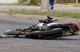 दो बाइकों की भिड़ंत में एक महिला की मौत, तीन घायल