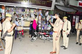 VIDEO: रामपुर के पुलिस अधीक्षक ने किया फ्लैग मार्च
