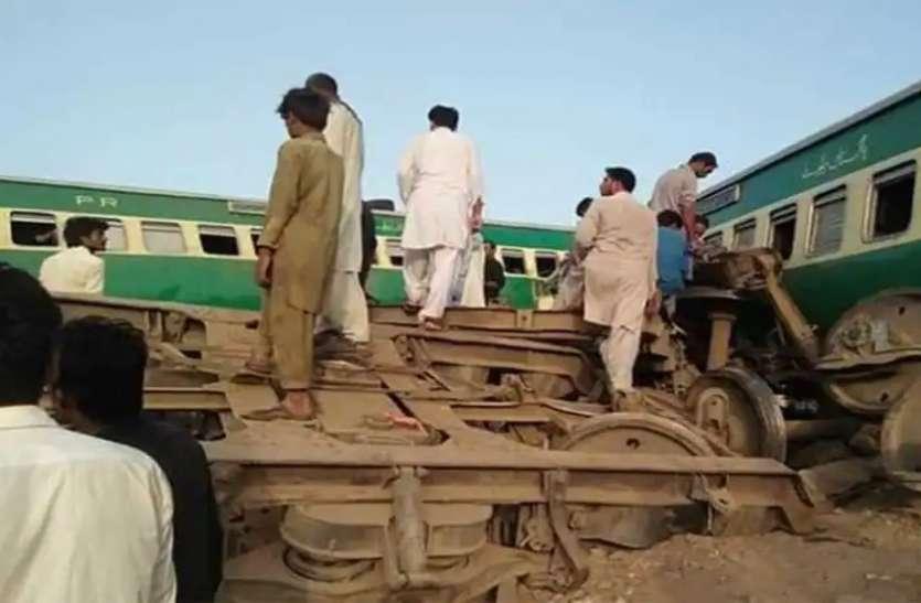 पाकिस्तान में बड़ा रेल हादसा : सिंध में टकराईं दो ट्रेनें, 30 की मौत, ट्रेन काटकर निकाल रहे है यात्री