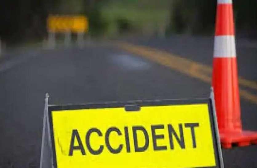 सड़क दुर्घटना में वृद्धा सहित दो की मौत