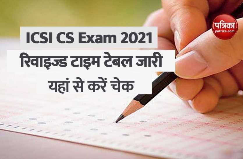 ICSI CS Exam Dates 2021 announced: 10 से 20 अगस्त के बीच होंगी CS की परीक्षाएं, रिवाइज्ड टाइम टेबल जारी, यहां से करें चेक