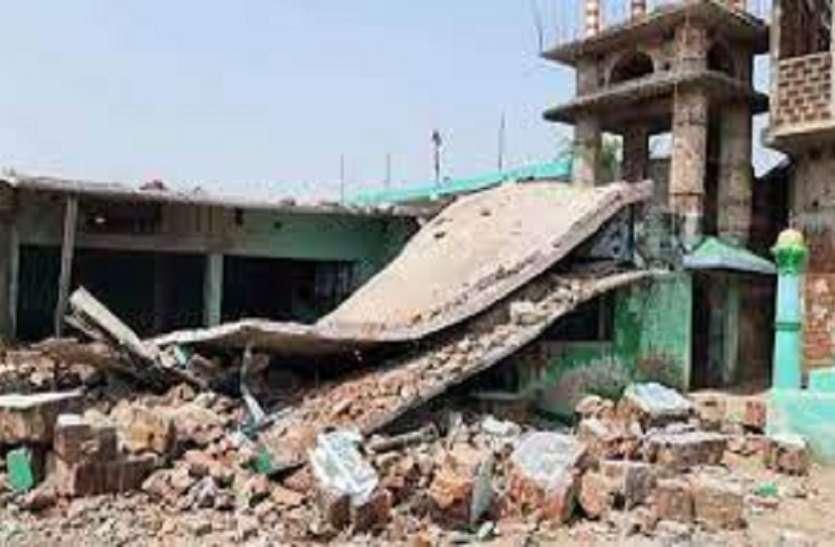 बिहार के बांका में मस्जिद के पास जोरदार धमाका, मदरसे की इमारत पूरी तरह से ध्वस्त