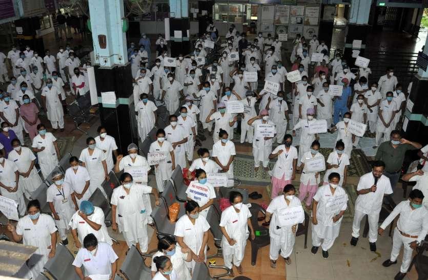 राज्य में यूनाइटेड नर्सेज फोरम की 14 से अनिश्चितकालीन हड़ताल