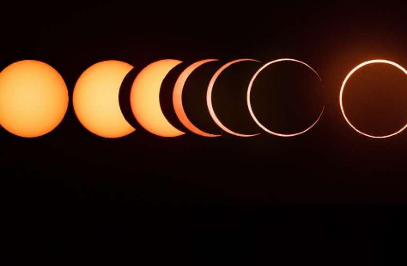 अस्त होते सूर्य का आधा प्रतिशत भाग रहेगा ग्रहण के साए में