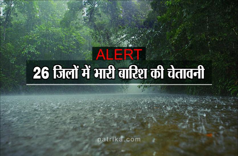 मौसम विभाग का 'ऑरेंज अलर्ट' जारी, 2 से 3 दिनों में हो सकती है 'भारी बारिश'