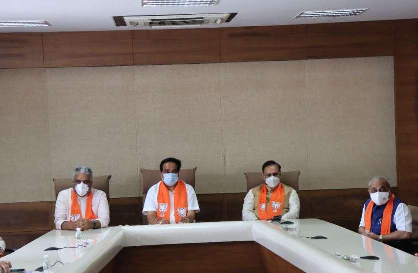 प्रदेश भाजपा प्रभारी भूपेन्द्र यादव तीन दिन के दौरे पर पहुंचे गुजरात