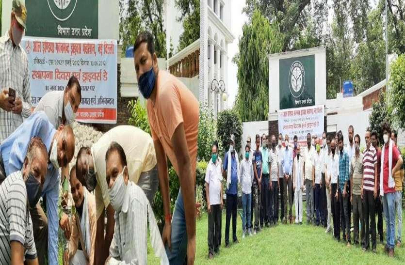 ऑल इंडिया ड्राइवर फेडरेशन ने मनाया स्थापना दिवस, लगाए गए पीपल की पौध