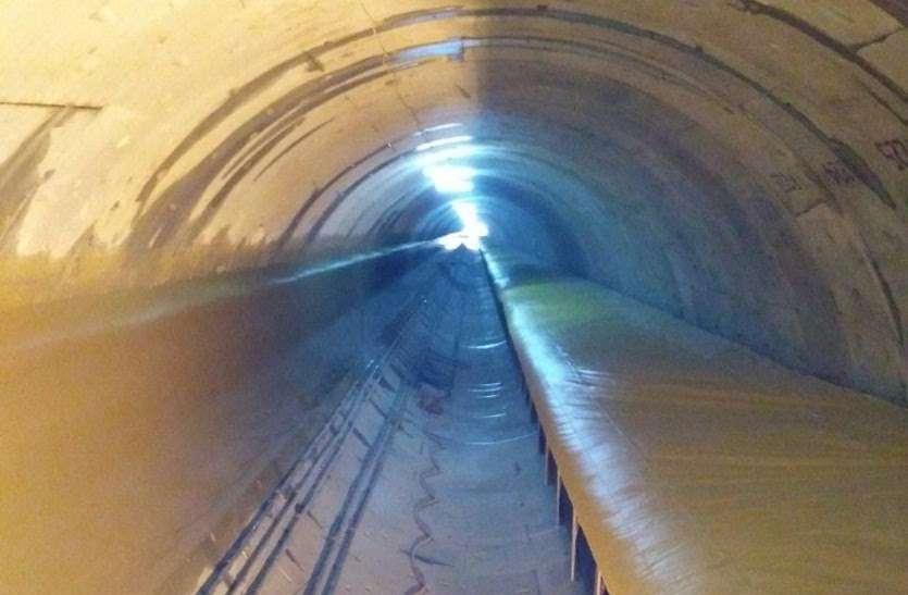 13 साल में नहीं बनी 40 माह में बनने वाली 12 किलोमीटर लंबी टनल
