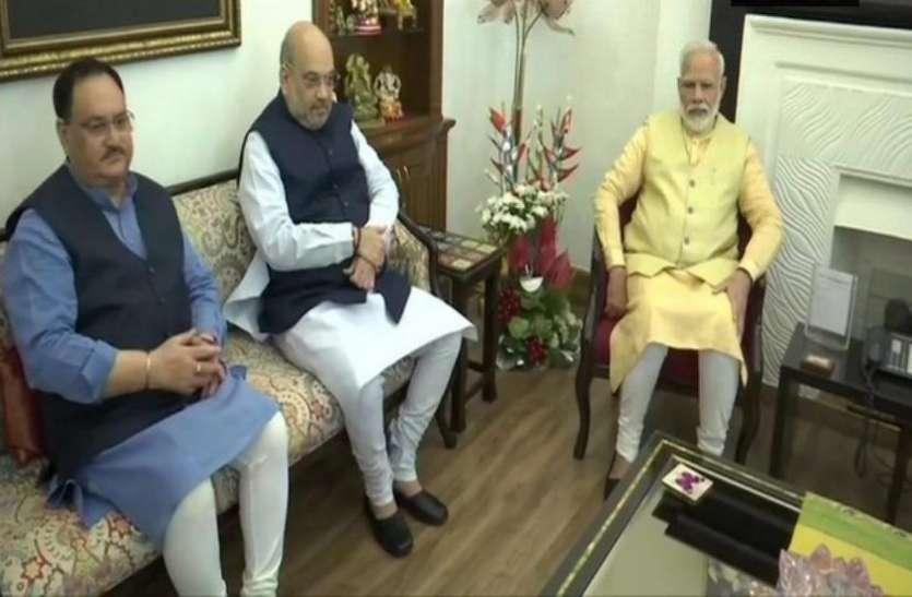 पीएम मोदी ने गृह मंत्री अमित शाह और बीजेपी अध्यक्ष जेपी नड्डा के साथ की बैठक, यूपी में बड़ा फेरबदल की अटकलें तेज