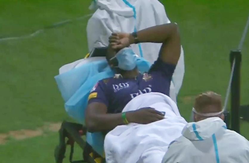 PSL: पाकिस्तानी गेंदबाज की बॉल से घायल हुए आंद्रे रसेल, स्ट्रेचर पर ले जाना पड़ा अस्पताल