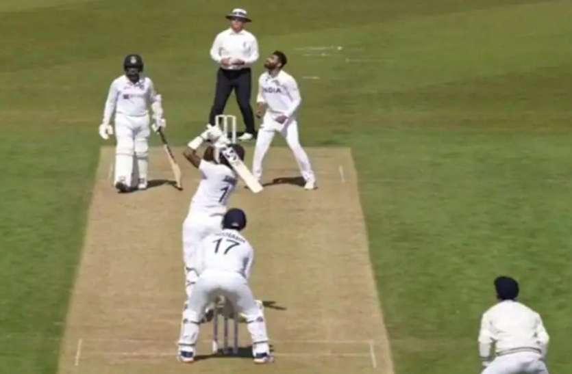 WTC Final से पहले इंट्रा स्क्वाड मैच में राहुल ने जडेजा की गेंद पर लगाया लंबा सिक्स