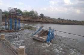 मालवा राजस्थान में बारिश, कूनो नदी में उफान, पिलर बहे