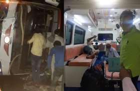 आगरा—लखनऊ एक्सप्रेस वे पर एक घंटे के अंतराल में दो हादसे, 15 यात्री घायल