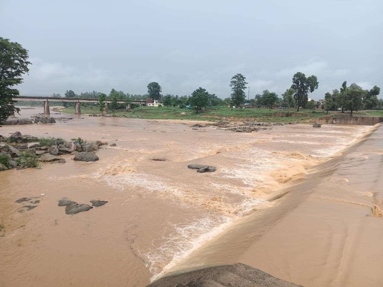 Kanhar river anikat
