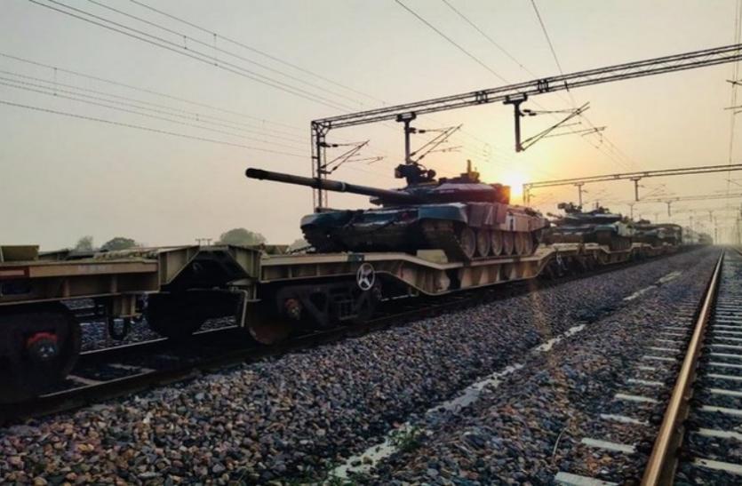 डेडिकेटेड फ्रेट कॉरिडोर पर दौड़ी मिलिट्री हथियारों से लदी ट्रेन, सेना का ट्रायल सफल