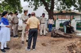 धरमपुरा मुक्तिधाम व कब्रिस्तान का शुरू हुआ सीमांकन