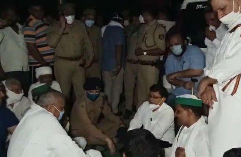 बीडीसी सदस्य के कथित अपहरण के मामले में जमकर हंगामा
