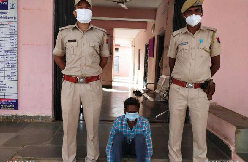 जिले के टॉप 10 आरोपियों में शामिल इनामी आरोपी गिरफ्तार
