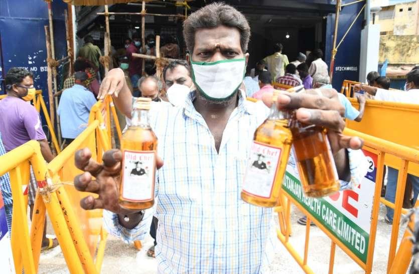 तमिलनाडु में एक दिन में बेची 164 करोड़ रुपए की शराब