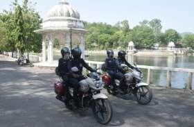 पर्यटक स्थलों पर बढ़ी गश्त, सात बाइक जब्त