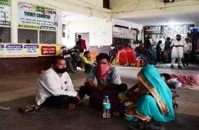 इंतजार करते रहे यात्री, नहीं चली उप्र,छत्तीसगढ़ व राजस्थान की बसें