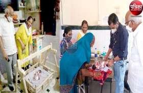VIDEO : पालना गृह में एक दिन के शिशु को छोड़कर गई मां, बाल कल्याण समिति ने संभाला