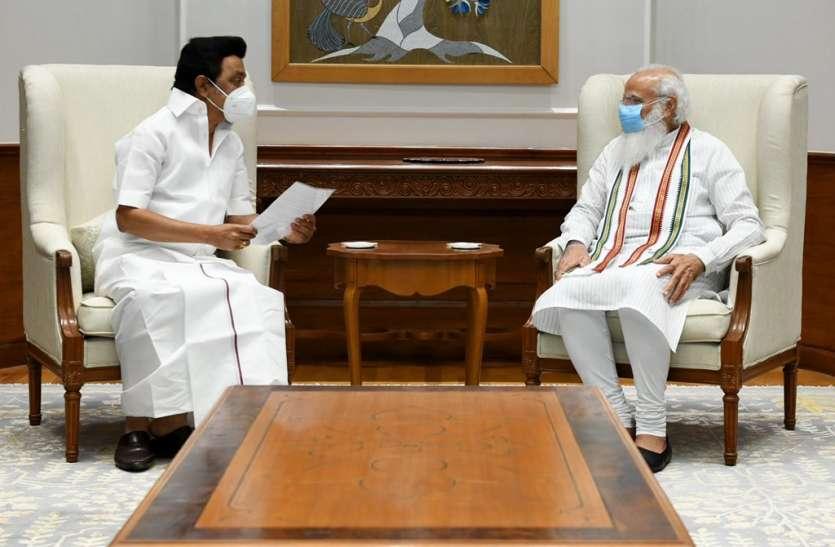 मुख्यमंत्री एमके स्टालिन ने पीएम मोदी से मुलाकात की, नीट परीक्षा को समाप्त करने वाला ज्ञापन सौंपा