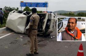 मंत्री विश्वास सारंग के काफिले का वाहन दुर्घटना ग्रस्त, चालक ने अचानक खोया कार का नियंत्रण, मचा हड़कंप