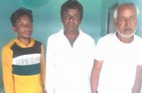 अवैध बजरी परिवहन चालक सहित तीन जने गिरफ्तार