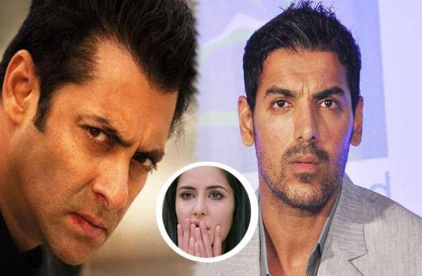 katrina kaif cried in front of salman khan because of john abraham