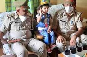 सैनिक पिता को नहीं मिली छुट्टी तो बेटी के जन्मदिन पर केक लेकर पहुंची पुलिस