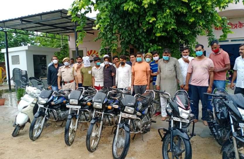 मेवात गिरोह के सात बदमाश गिरफ्तार