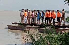 उफान पर गंगा : खेत खलिहान के साथ कई गांव बाढ़ की चपेट मे तो कई गांवों से संपर्क टूटने की कगार पर