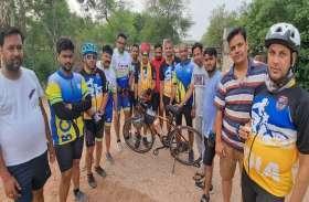 भरतपुर के साइकिल राइडर का अनौखा कारनामा...