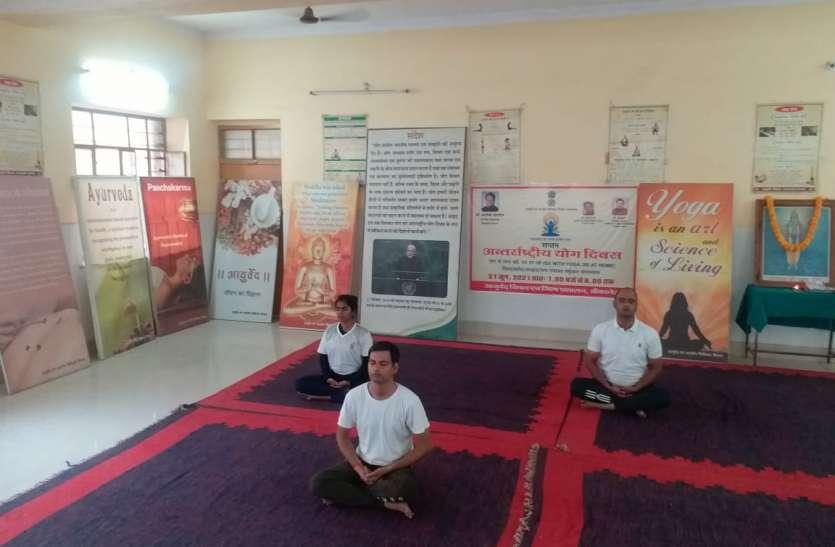 'योग के साथ रहो, घर पर रहो' थीम के साथ आमजन ने घर बैठे किया योगाभ्यास