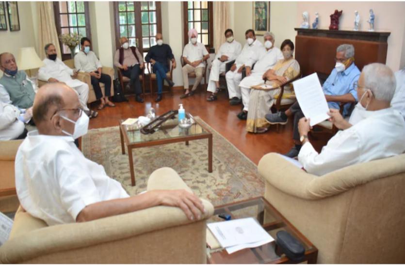 शरद पवार के दिल्ली आवास पर विपक्षी नेताओं की अहम बैठक, इन मुद्दों पर हुई चर्चा