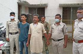 मादक पदार्थ चरस व गांजा सहित पिता पुत्र गिरफ्तार