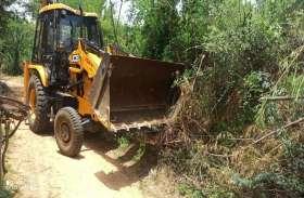 रामगढ बांध के बहाव क्षेत्र में अतिक्रमणों पर जेडीए की कार्रवाई