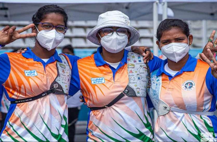 तीरंदाजी : विश्व कप में भारतीय रिकर्व महिला टीम ने जीता गोल्ड
