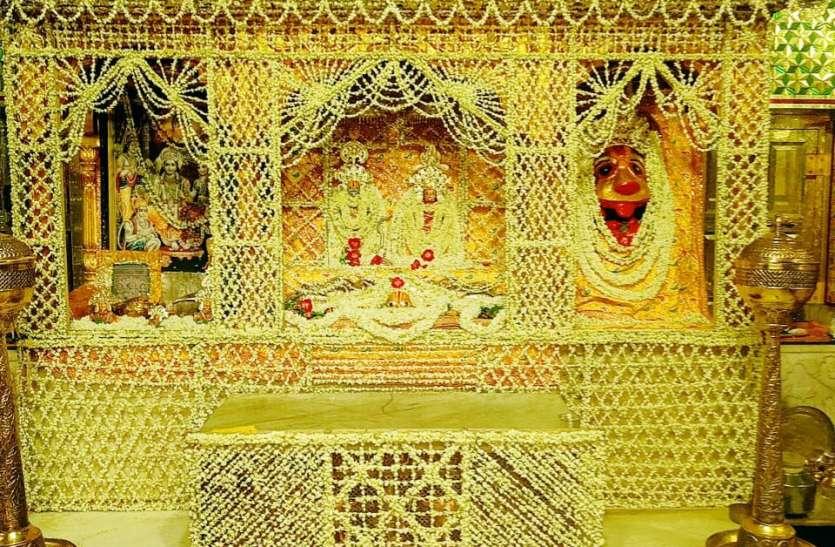 अनलॉक 3.0 में खुलेंगे मंदिरों के पट, त्रिवेणीधाम में छायी खुशी, मंदिर में की सजावट