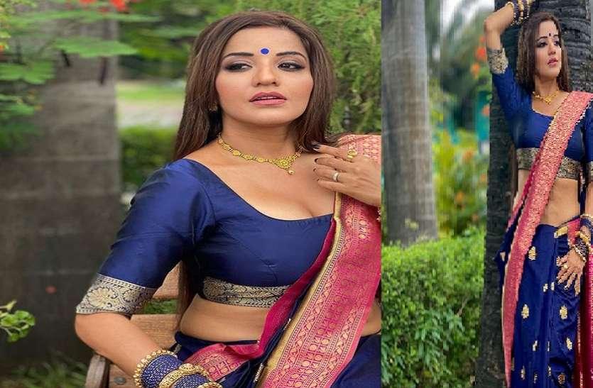 Actress monalisa new glamorous photoshoot in saree